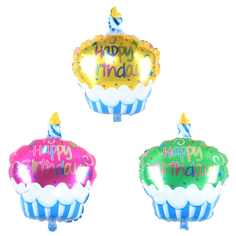 Happy birthday Ice Cream Cake Birthday Party Decorations foil helium Balloons