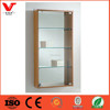 Wall wood glass display, mdf design wood glass showcase