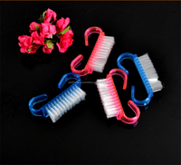 Personal Care For Nails Plastic Manicure Nail Dust Brush Nail Clean Brush Pure Color Factory Directly