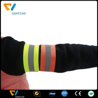 yellow elastic arm / ankle reflective belt with warning reflective stripes band