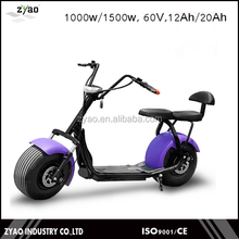 1000W/60V City Coco Electric Mobility Scooter Fat Tire Electric Motorcycle with front shock