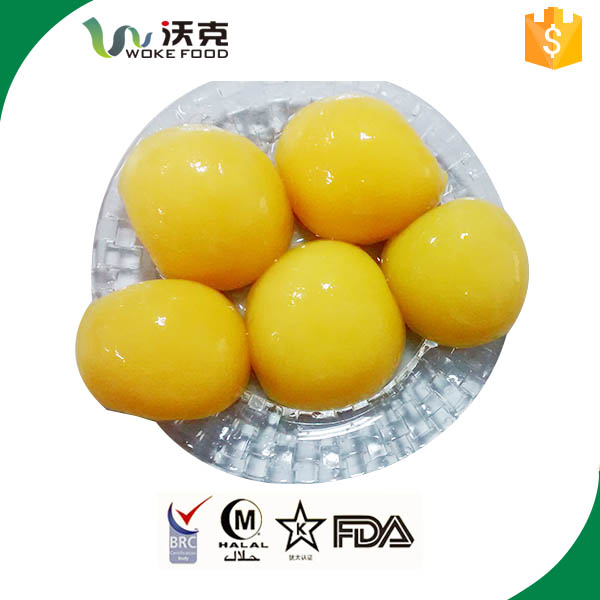 QS high quality canned yellow peach in syrup 3000g for Europe