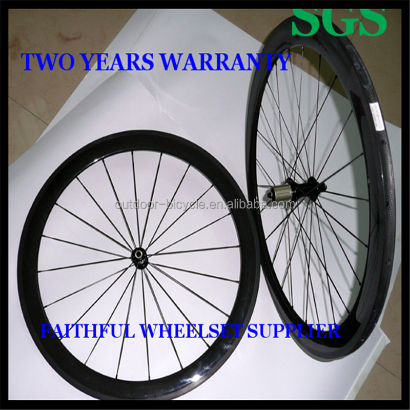 700c Carbon Wheels 50mm Rim Clincher Tubular Carbon Bicycle Wheels for Sale