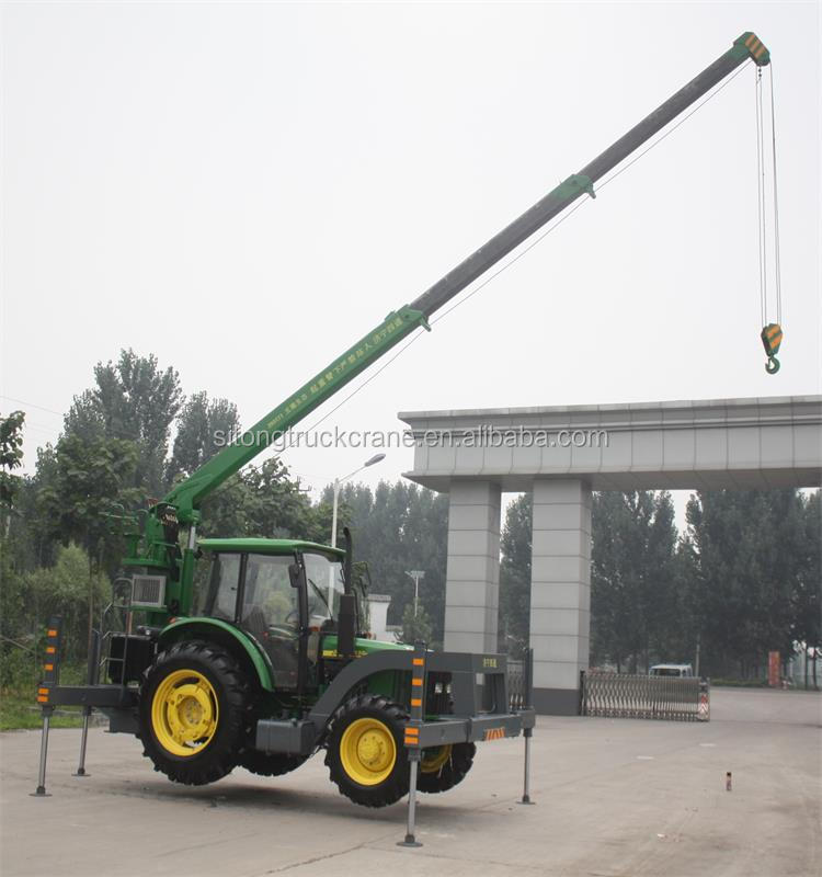 Tractor With 3 Ton Mini Telescopic Hydraulic Crane Buy 3