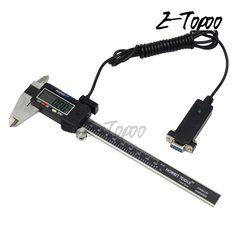 digital caliper electronic measuring tools data output computer cable RS232 (9holes)