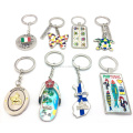 Factory direct custom size/shape/photo/logo tourist souvenir keychains