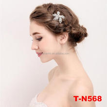 Fashion silver plated leaves hair pin wedding hair accessories bridal bridesmaid headpiece