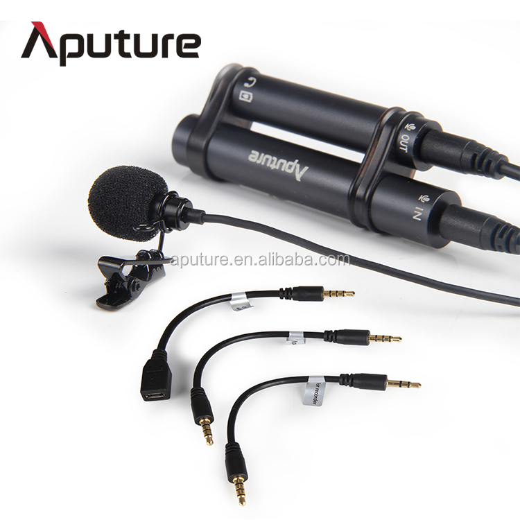 Aputure lapel lavalier microphone, wired lapel mic, omnidirectional lavalier microphone
