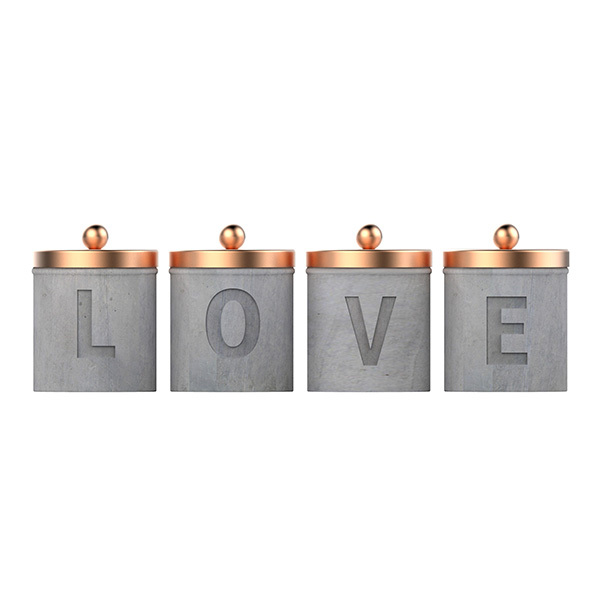 Jar with Copper Lid Home Decoration Candle Jar with Lid
