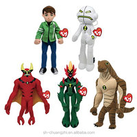 2016 China Suppliers wholesale factory Custom creative stuffed Plush soft figure Ben 10 Beanie Baby Soft CARTOON doll toys Set