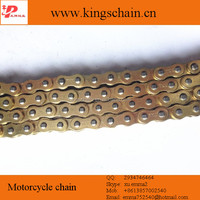 Good quality copper plated gold motorcycle chain 428 428H