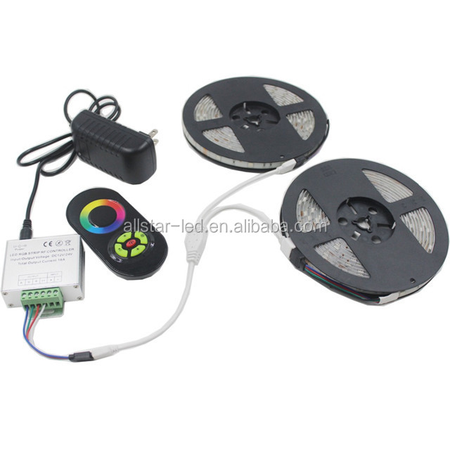 guangdong decorative lighting 5050 led tape light RGB Diode Tape +44Key Remote +6A Transformer Power Adapter led strip light