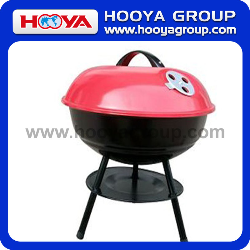 "14"" Outdoor Portable Apple Style Charcoal BBQ Grill"
