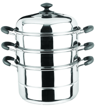 new style stainless steel 3 layers steamer pot