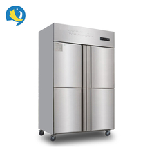 2018 hot sale 4 doors 304 stainless steel kitchen fridge freezer for restaurant/hotel
