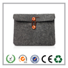 2015 alibaba wholesale 14 inch felt laptop sleeve with button made in China