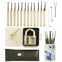 12 Pieces GOSO Lock Pick Set Locksmith Tool with transparent locksmith tools with james card credit card shopping online