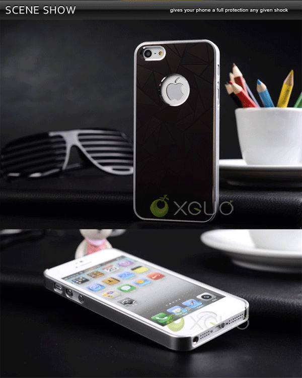New arrival 3 D metal water cube diamond case for iphone5