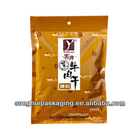 plastic food packaging bag for beef jerky