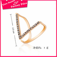 High end beautiful rose gold rings designs party wear diamond crystal ring for girls fashion jewelry 2016 top sale