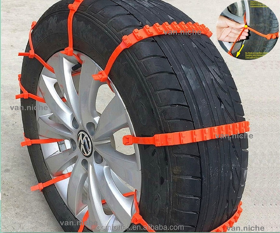 Universal Easy Vehicle EmergencyTraction Aid Anti-skid Tire <strong>Chains</strong> for Van Car Sedan SUV Mud Water Snow Winter Emergency Driving