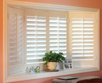 one window shutters Factory 89mm push rod snow white window plantation shutter/wooden shutters