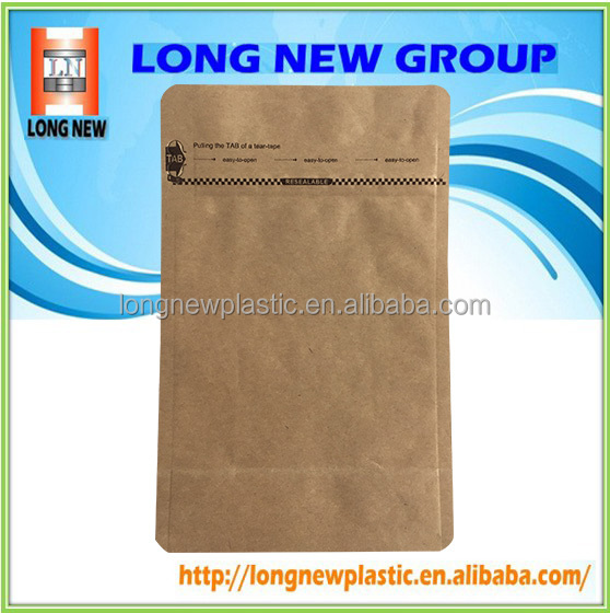 195mm Zipper Kraft Paper Bag