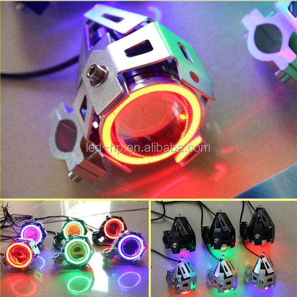 High Brightness AC Colorful 10W led motorcycle/dirt bike lights rechargeable