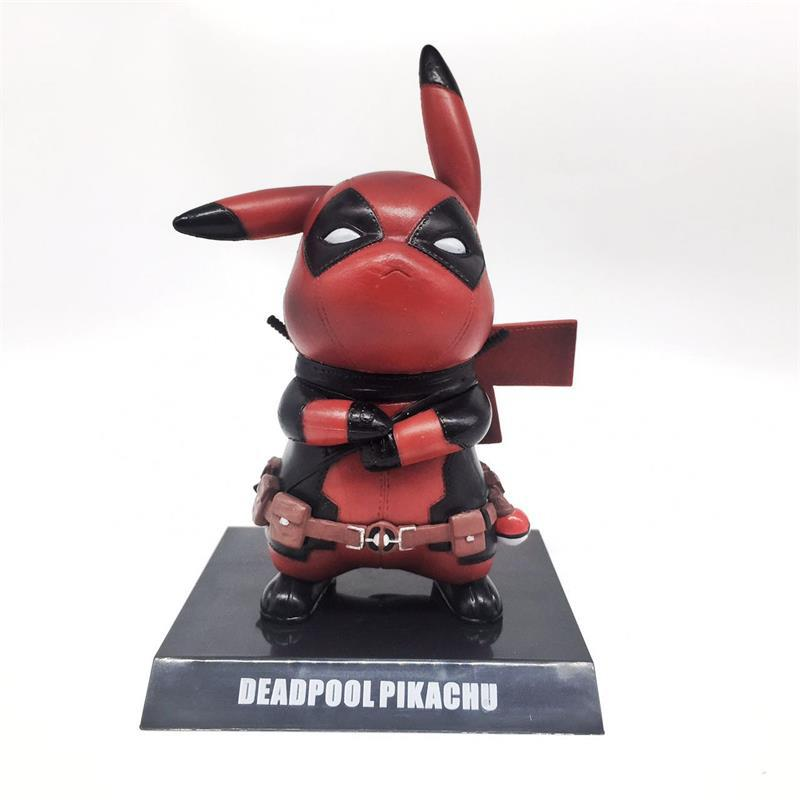 Deadpool Cosplay anime Pikachu pokemon action figures cos statue