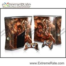 For Xbox 360 Slim Vinyl Skin Sticker Decal Skull Heads + 2 New Controller Skins + Free Shipping