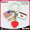 antique custom made personalised national flag key ring