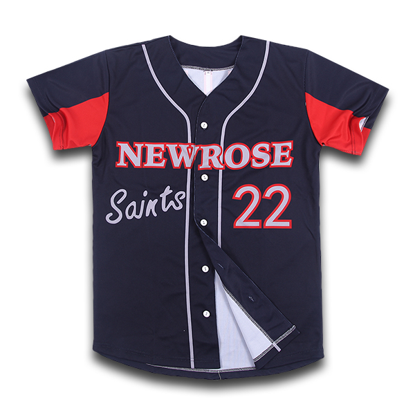 Hot selling sublimated dry fit crop baseball jersey