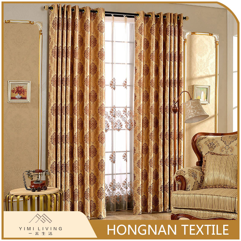 Hot selling custom design fashion blackout security curtains for windows