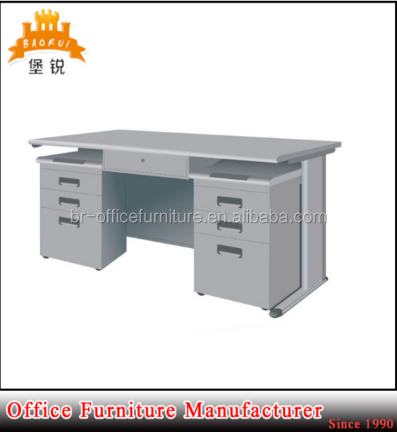 DAS-047 Cheap office two-drawer desk /steel office table design/China metal office furniture manufacturer