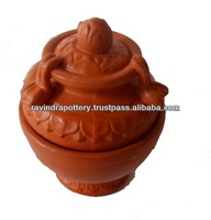 Red clay wedding cake box ( Pun Kalasa )