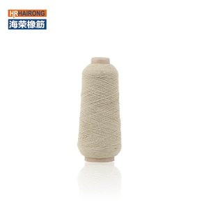 China supplier rubber covered polyester yarn elastic thread yarn for socks