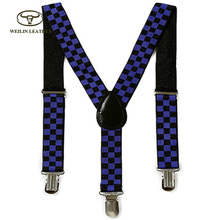 Custom Design Printed Child Adjustable Elastic Suspenders Boys Braces