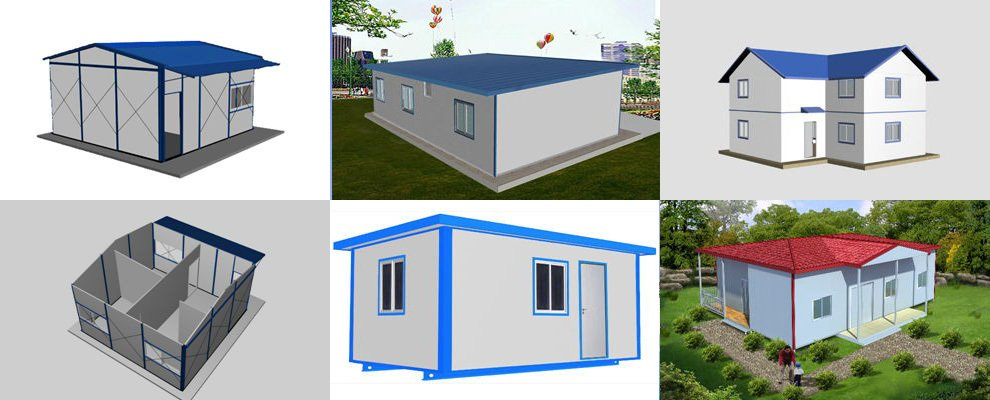 T style prefab house materials