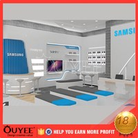 ouyee 245 3d design lockable moblie displays shop cash counter design