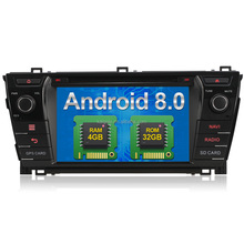Android 8.0 touch screen car dvd player for 2016 toyota corolla with 4GB RAM 32GB ROM Rockchip PX5 8-Cores 1.5GHz*8