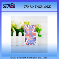 Promotional Customized Paper Car Air Freshener for advertising