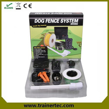 Electronic dog training collar with pet fence