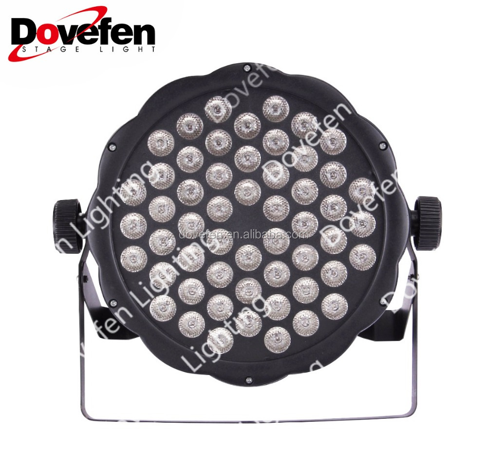 54pcs 1W Ultra Thin Master Slave Auto Run Sound Control LED Flat Par Light