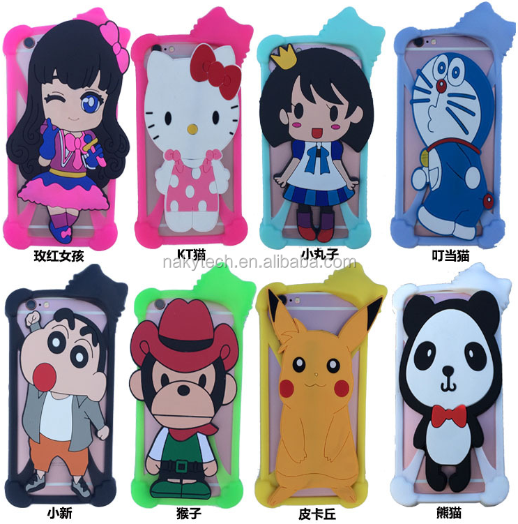 Multi-functional factory price soft silicone universal phone cover mobile phone case for iphone 6\6plus 7/7 plus