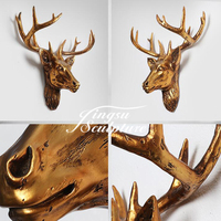 Popular Design Antler Wall Decor Resin Sculpture