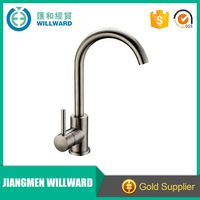 Deluxe modern single handle brass hot water kitchen sink mixer tap / faucet