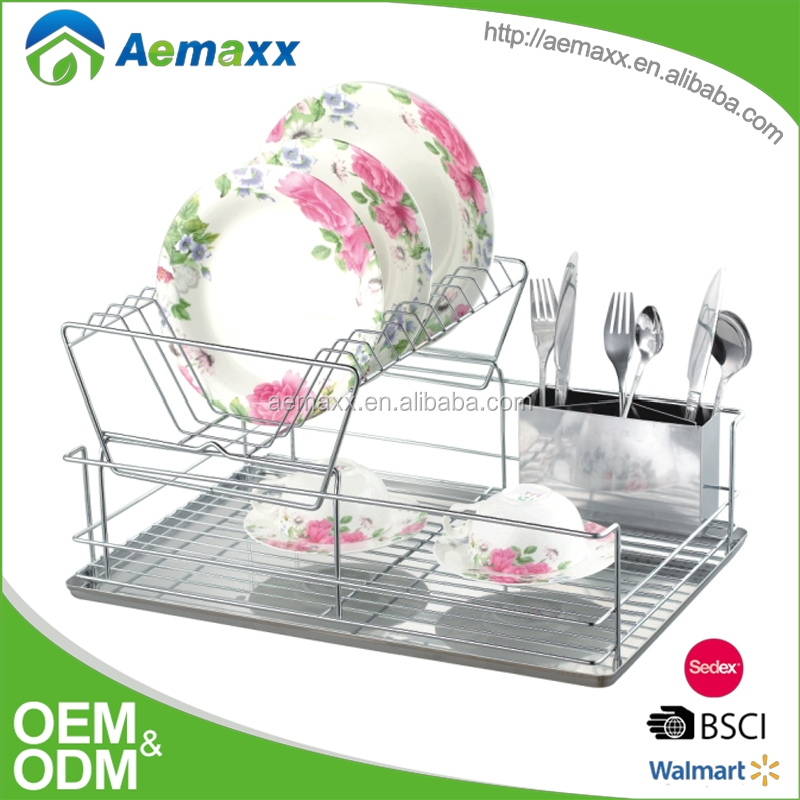 Metal hanging dish rack/ dinner plate storage holder