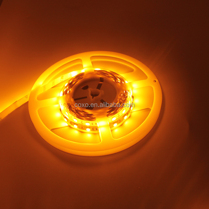 Beautiful 12v amber flexible 5050 waterproof led strip light