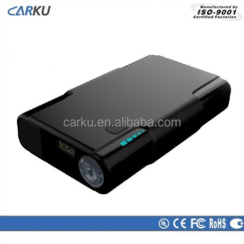 2015 Carku new product car accessory 8000mAh mini multi emergency 12v jump starter for smartphone