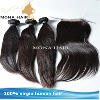 Factory wholesale pice 8a grade natural color straight style human virgin indian hair